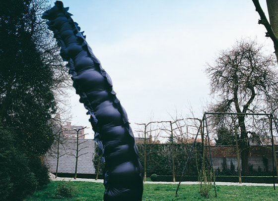 Inflatable, 1999, coated polyamide, 9m x 1m x1m