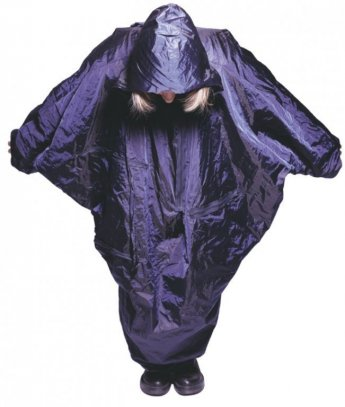 raincoat, winter 1999, polyester, metal wire. PAP