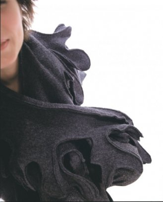 shawl,winter 2000, felted wool. PAP