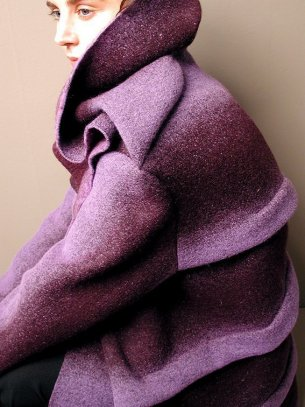 coat, winter 2003, felted wool, PAP