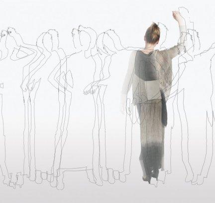 ensemble, zomer 2006, cupro, polyamide, PAP