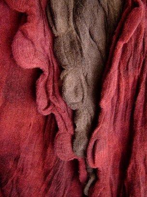 cardigan en sjaal, winter 2007, gevilte wol, PAP