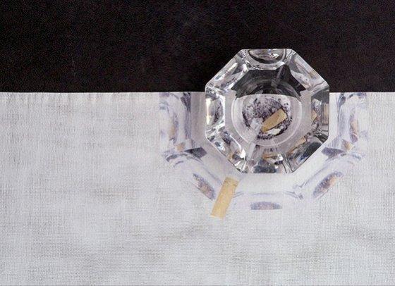 Tabletalk, 2003, 4 tafellopers, katoen, digitaal geprint , Kunst op kamers, De Rijp, Nederland
